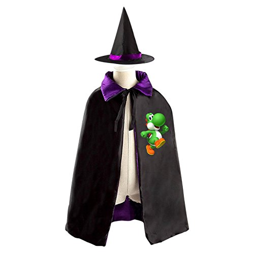 Birdo Costume (Yoshi Halloween Costumes Decoration Cosplay Witch Cloak with Hat (Black))