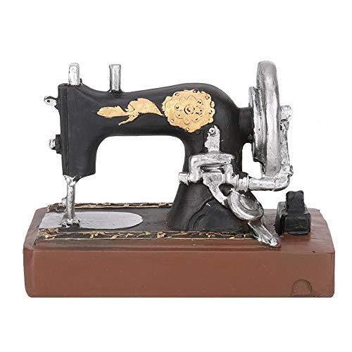 Hakeeta Decoración de Máquina de Coser, Vintage, Miniatura, de Resina, Mano de Obra Exquisita, Decoración para Tienda de…