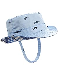 062a0cd3302 Baby Toddler Plaid Bucket Reversible Sun Protection Animal Hat
