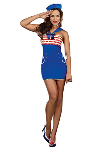[Ridin' Waves Costume - X-Large - Dress Size 14-16] (Womens Ridin Waves Sailor Costumes)