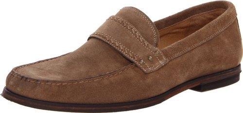 John Varvatos Men's Stitch Stud Keeper Loafer,Sandstone,9 M US