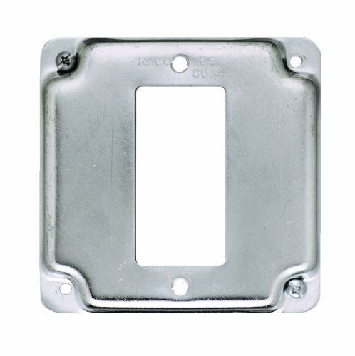 Hubbell-Raco 808C 1 GFCI 4-Inch Square Exposed Work Cover