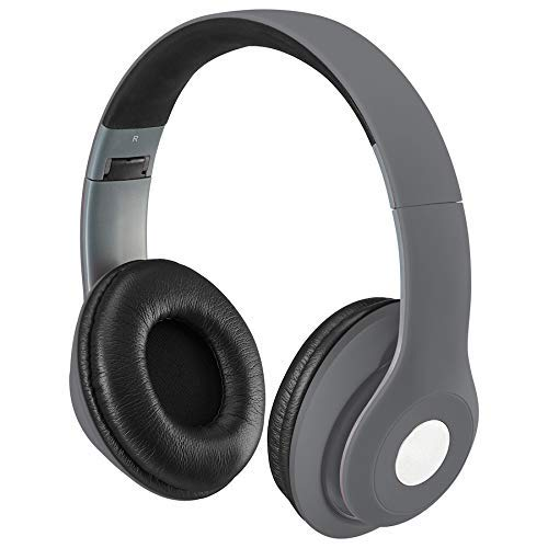 iLive Bluetooth On-Ear Headphones, Includes 3.5mm Audio Cable and Micro USB to USB Cable, Matte Gray (IAHB48MG)