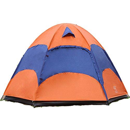 LaDicha Outdoor 3-5 Personnes Grande Tente Camping Double Couche Antipluie Anti-UV Pare-Soleil Abat-Jour  -