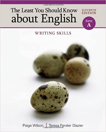 The Least You Should Know About English Writing