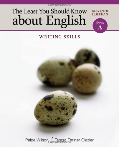 The Least You Should Know about English: Writing Skills, Form A ()