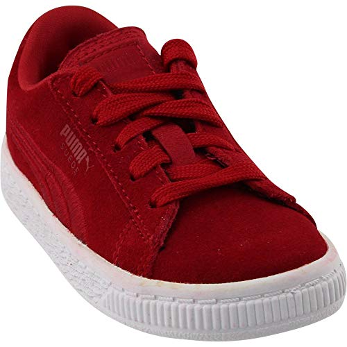 (PUMA Kids' Suede Classic Badge Inf Sneaker Barbados Cherry 6 M US Toddler)