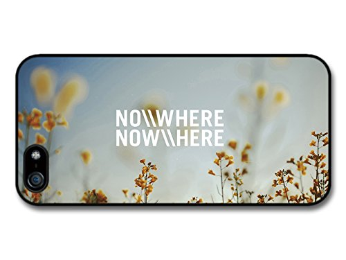Nowhere Now Here Life & Love Inspirational Quote Ocean Sky Clouds coque pour iPhone 5 5S