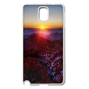 {Funny Series} Samsung Galaxy Note 3 Case Mountain Range Winter, Shock Absorbing Case Okaycosama - White