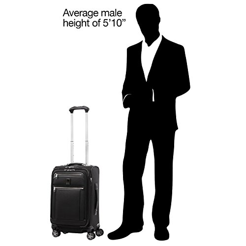 "Travelpro Luggage Platinum Elite 21"" Carry-on Expandable Spinner w/USB Port, Shadow Black"