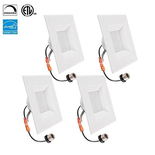 TriGlow T80623-4 12-Watt Retrofit Downlight Kit (100W Replacement), Fit for 6