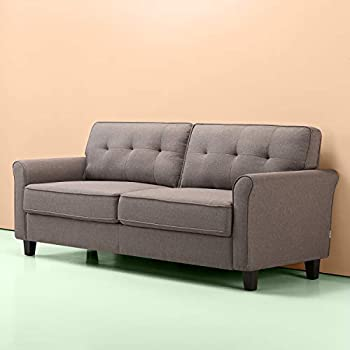 Amazon.com: Dorel Living Bowie Sofa, Gray: Kitchen & Dining
