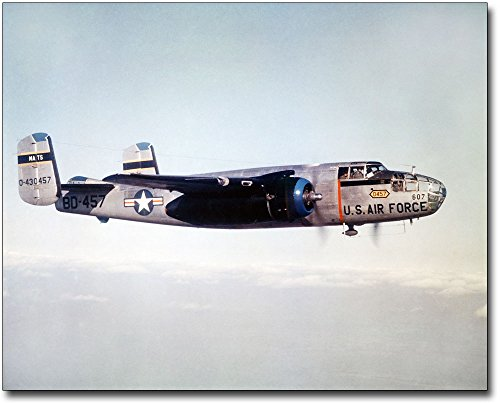 North American B-25 Mitchell WWII Bomber 11x14 Silver Halide Photo Print ()