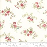 Moda Fabrics Poetry by 3 Sisters Floral Delicate Sprays Natural