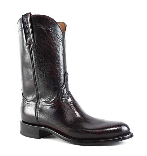 Lucchese New Mens Nv8814.C2 Black Cherry Cowboy, Western Boots Size 9