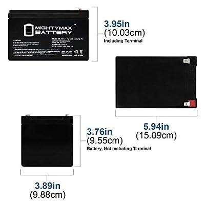 Mighty Max Battery ML15-12 12V 15AH F2 Razor Battery fits MX500 MX650, W15128190003-3 Pack Brand Product: Electronics