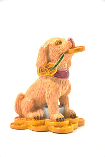 2018 Chinese year of dog Horoscope Chinese Zodiac Handmade Multi Color Resin Dog With Coin Collectible statue Figurine (Chinese Horse Stone)