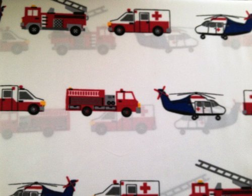 Charles Street Search & Rescue Emergency Vehicles Twin Sheet Set