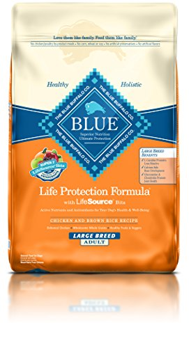 Large Breed Natural (BLUE Life Protection Formula Adult Large Breed Chicken and Brown Rice  Dry Dog Food 30-lb)
