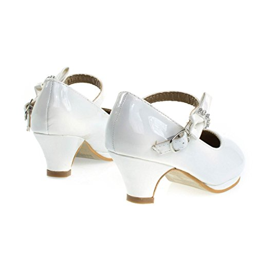 Jane Link Forever White Mary Girl's Pump�� xzUdUw6t