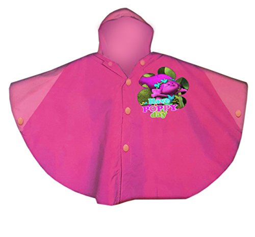 Price comparison product image Poppy\Trolls Raincoat Hoodie,Children Raincoat,Waterproof,Official Licensed