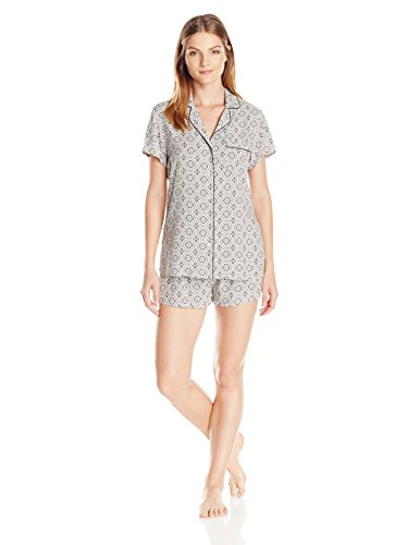 - Splendid Women's Classic Shorty PJ Set, Batik Floral-Slate, Small