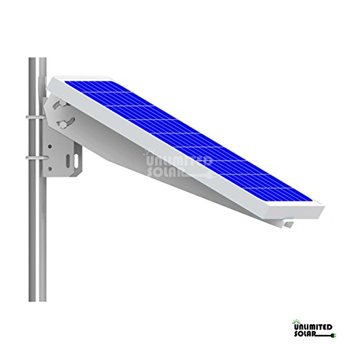 Unlimited Solar Universal Solar Panel Single Arm Pole, Wall Mount for 10W, 20W, 30W and 40W
