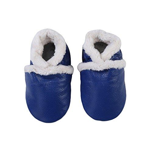 Just Easy Baby unidad lernschuhe Niños Guantes Piel Piel puschen negro Rosa Talla:11 cm azul