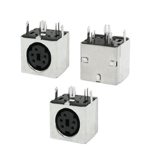 uxcell Mini DIN 5 Pin S-VHS PCB Mounting Sockets Connector Black 3 Pcs 5 Pin Mini Din