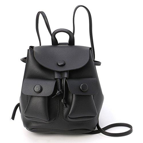 Bag Travel Women Shoulder Bag Kofun Handbag School Shoulder Black Bookbags Backpack Travel Girl Yellow Rucksack Drawstring Bag wqf0B