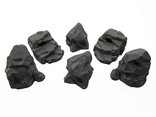 EnderToys Stone Boulder Bundle, Terrain Scenery for Tabletop 28mm Miniatures Wargame, 3D Printed and Paintable