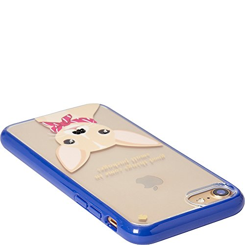 Kate Spade New York Women's Jeweled Chihuahua Phone Case for iPhone 7 Clear Multi Cellphone Case by Kate Spade New York (Image #2)