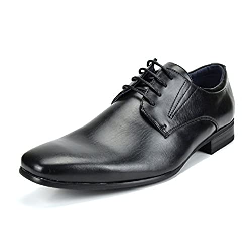 Bruno Marc Men's Leather Lined Snipe Toe Dress Oxfords Shoe