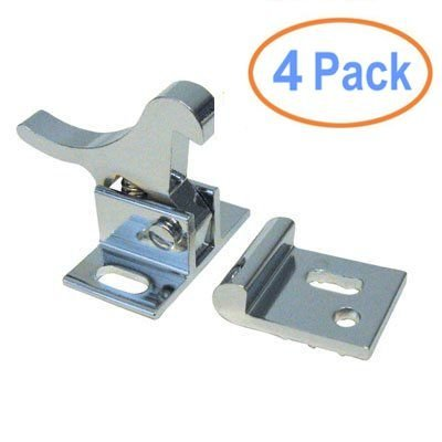 Heavy Duty Elbow Catch - Polished Nickel (4-Pack)