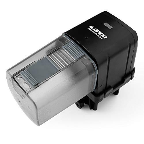 iLONDA L88 Wi-Fi Automatic Aquarium Fish Tank Feeder Timer Adjustable Food Dispenser (APP Control & USB Power Supply), Compatible with Amazon Alexa and Google Assistant (Black, Standard Pack)