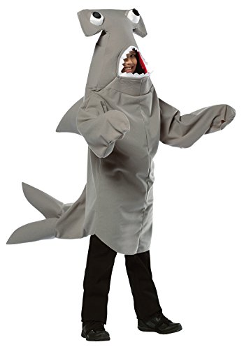 Boy's Hammerhead Shark Outfit Comical Theme Child Halloween Costume, Child M (7-10) Gray