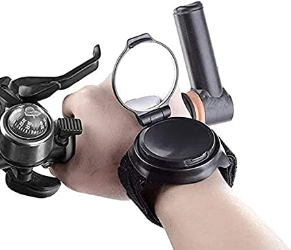 Bike Rear View Mirror Adjustable Wrist Wear Bicycle Mirror Cycling Wristband NEW