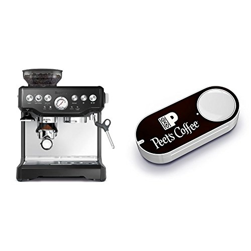 Breville BES870BSXL The Barista Express Coffee Machine, Black Sesame & Peet's Coffee Dash Button by Breville