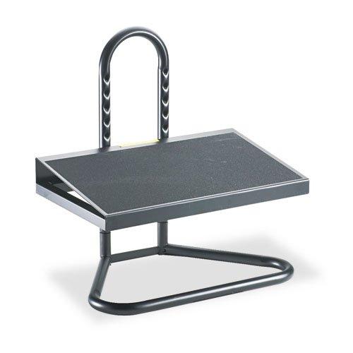 Ergonomic Industrial footrest, Adjustable Height, 20w x 12d x 5 1/2h-15h, Black