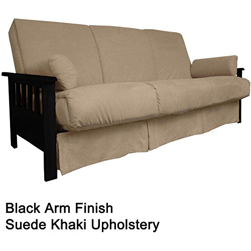 EpicFurnishings Provo Perfect Sit & Sleep Mission-style Pillow Top Full-size Sofa Bed Black/Khaki price