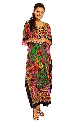 Robe Kimono Libre Femmes Neuf Maxi Tunique Taille Oversize Jaune Coupe Pour Caftan 20802 g6ybfY7v