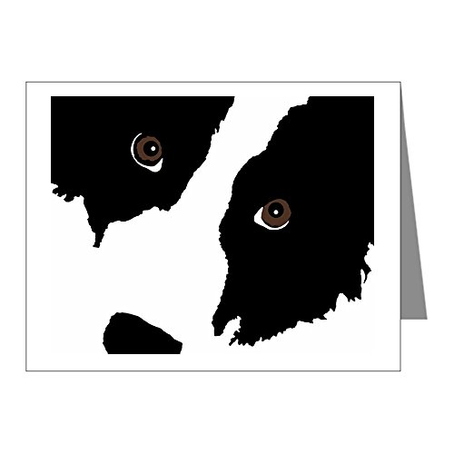 CafePress - Border Collie Watching Ewe 2 - Blank Note Cards (Pk of 10) Matte ()