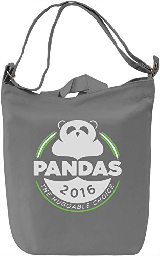 Pandas Borsa Giornaliera Canvas Canvas Day Bag| 100% Premium Cotton Canvas| DTG Printing|
