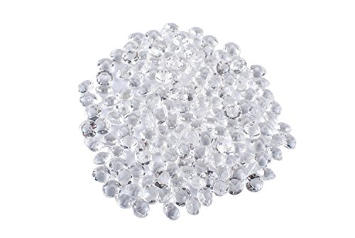 Femitu Diamond Confetti Vase Filler Party Decorations for Weddings Bridal Shower 4.5mm Clear Acrylic Filler Beads( Pack of 5000)