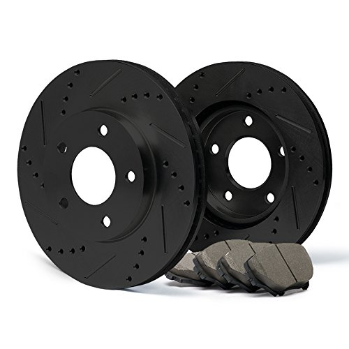 - (Front) E-Coated Slotted Drilled Rotors w/Ceramic Pads Elite Brake Kit CP063681 | Fits: 1993 93 Pontiac Firebird Formula V8 5.7L Models; Non Trans AM Models