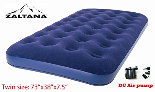 Zaltana Twin size Air Mattress with DC air pump (Opreated by