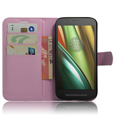 Funda Motorola MOTO E3 POWER,Manyip Caja del teléfono del cuero,Protector de Pantalla de Slim Case Estilo Billetera con Ranuras para Tarjetas, Soporte Plegable, Cierre Magnético G