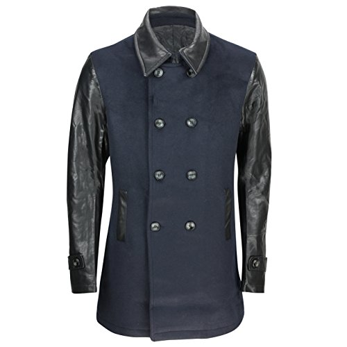 Generic Herren Jacke Mantel blau marineblau One size