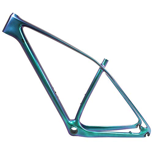 Chameleon 29er or 27.5er Carbon Fiber MTB Frame Carbon Mountain Bike Frame 135x9/142x12mm Bicycle Frame (chamelelon Green, 29er 19'') (Best Mountain Bike Frames 2019)