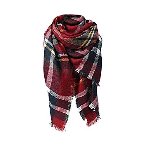 Spring Fever Stylish Warm Blanket Scarf Gorgeous Wrap Shawl D Dark Red